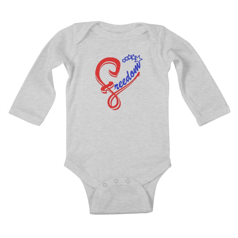 Freedom Heart Kids Baby Longsleeve Bodysuit by Hassified