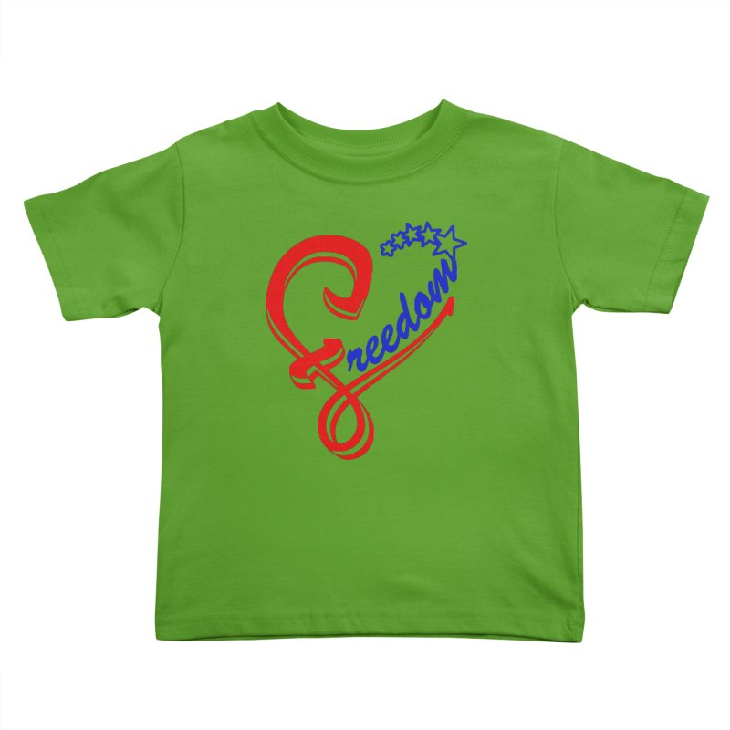 Freedom Heart Kids Toddler T-Shirt by Hassified