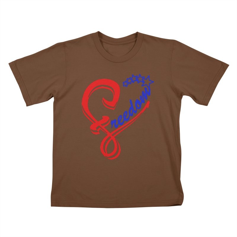Freedom Heart Kids T-Shirt by Hassified
