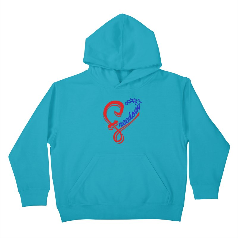 Freedom Heart Kids Pullover Hoody by Hassified