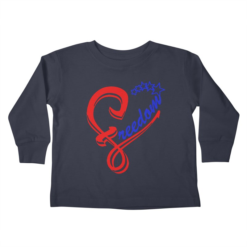 Freedom Heart Kids Toddler Longsleeve T-Shirt by Hassified