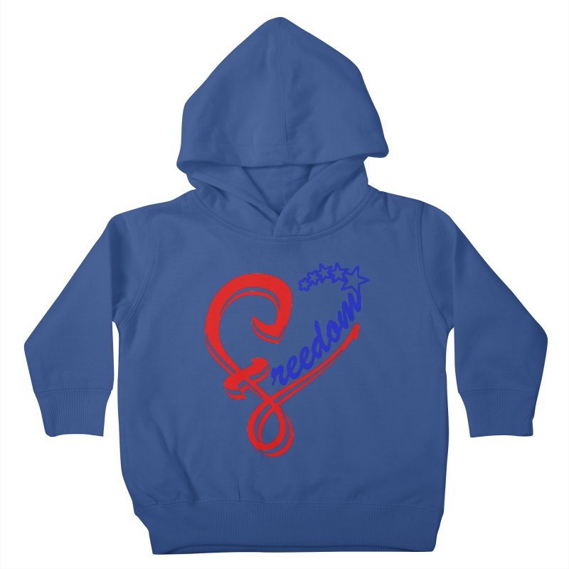 Freedom Heart Kids Toddler Pullover Hoody by Hassified