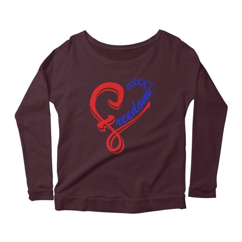 Freedom Heart Women's Scoop Neck Longsleeve T-Shirt by Hassified