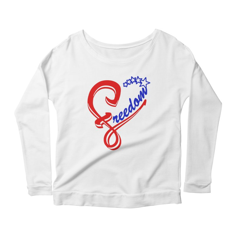 Freedom Heart Women's Scoop Neck Longsleeve T-Shirt by Hassified
