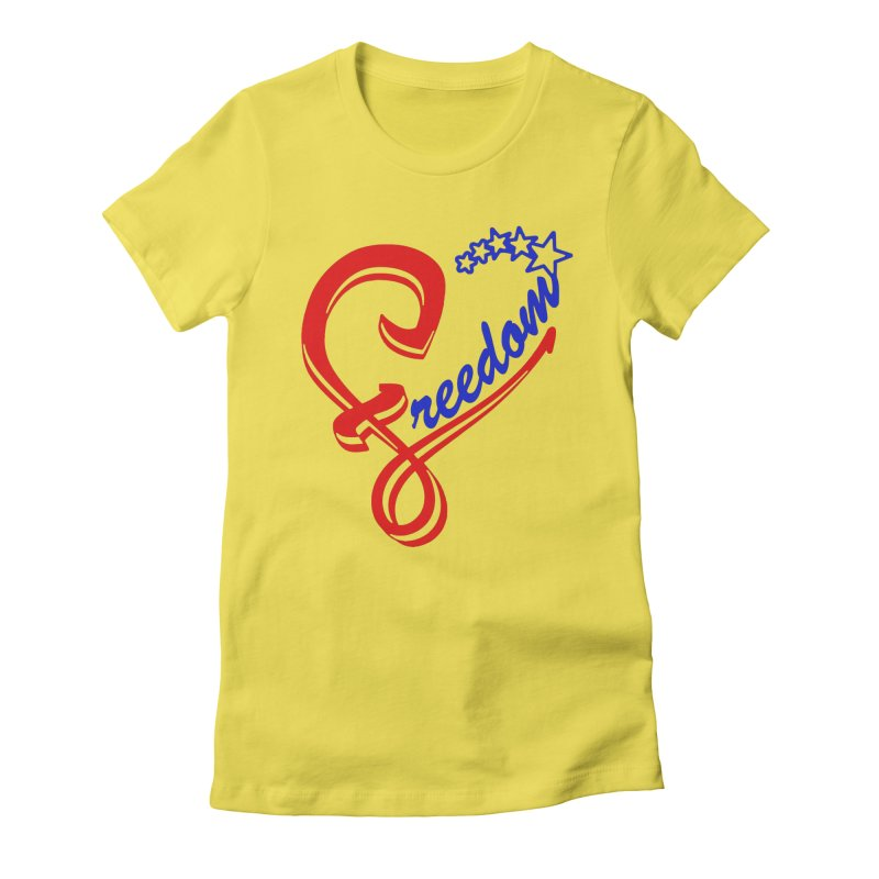 Freedom Heart Women's Fitted T-Shirt by Hassified