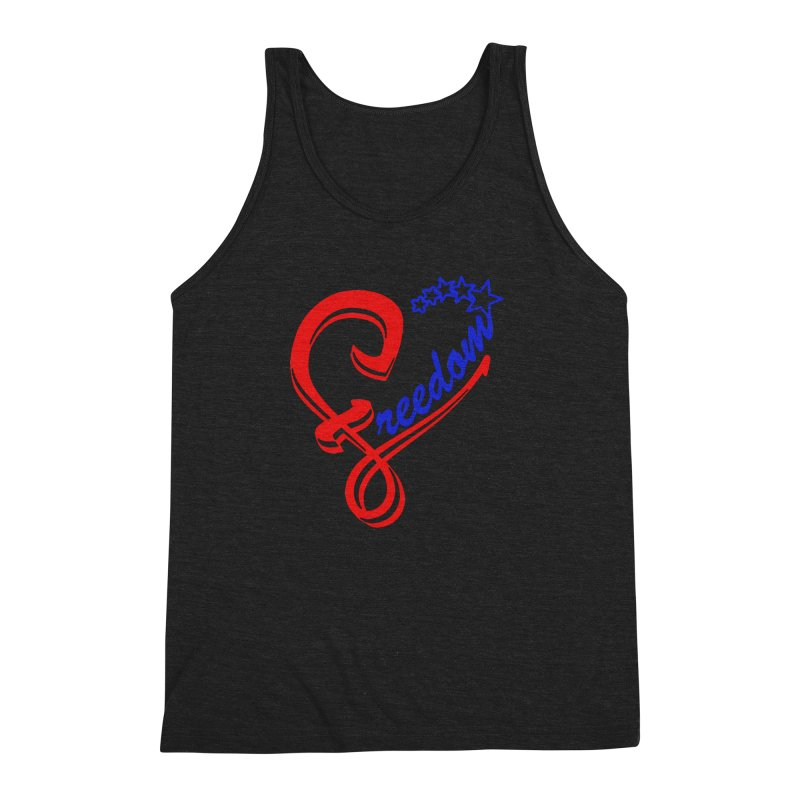 Freedom Heart Men's Triblend Tank by Hassified