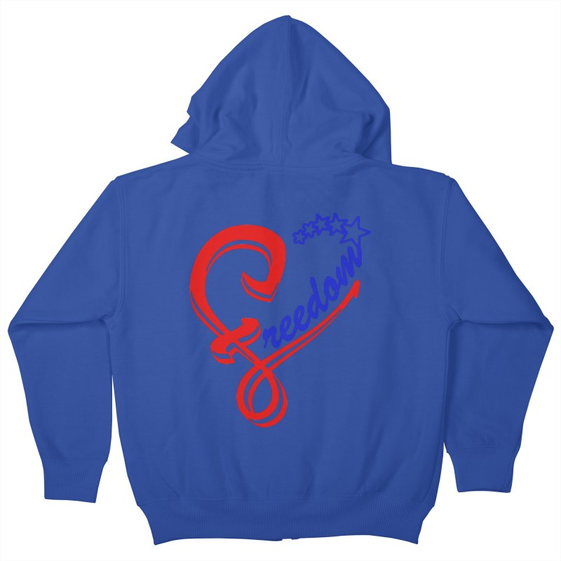 Freedom Heart Kids Zip-Up Hoody by Hassified