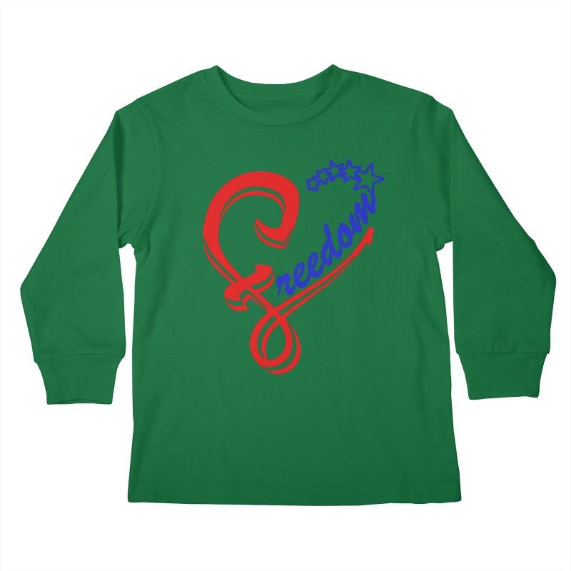 Freedom Heart Kids Longsleeve T-Shirt by Hassified