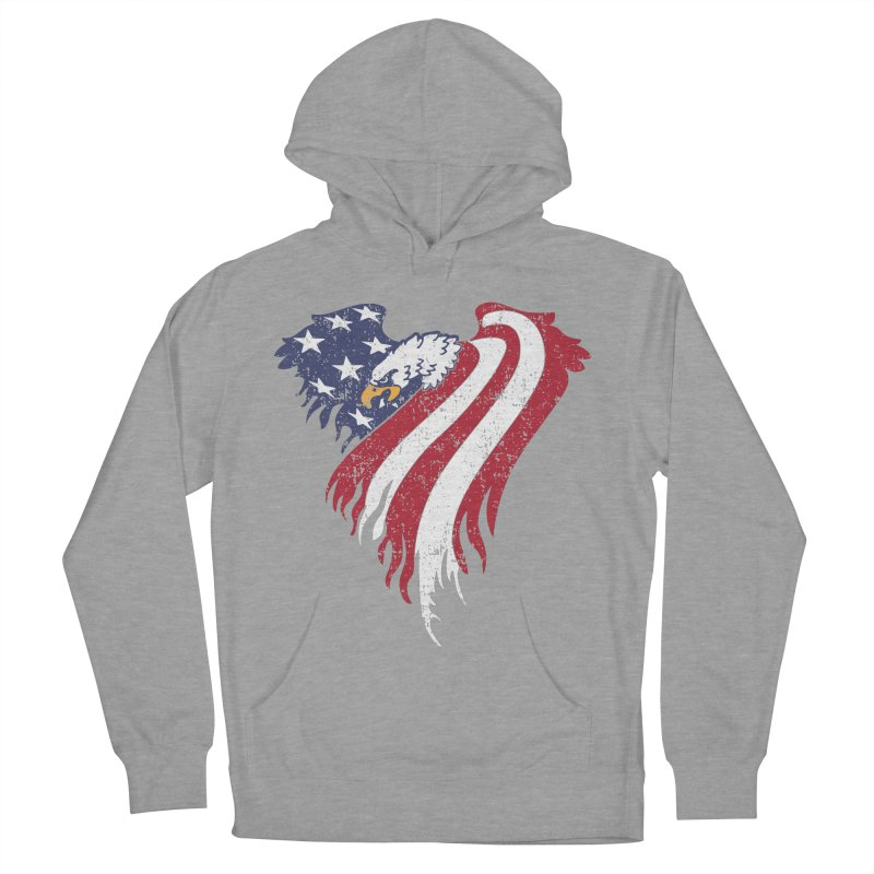 American Eagle Flag Women's French Terry Pullover Hoody by Hassified