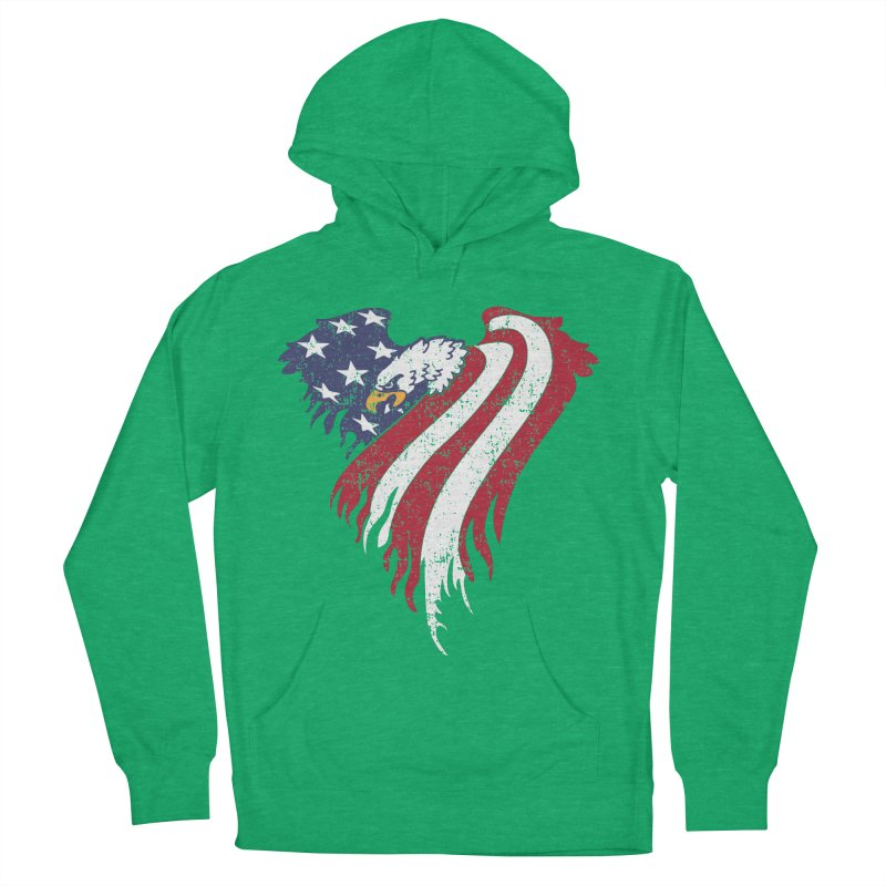 American Eagle Flag Men's French Terry Pullover Hoody by Hassified