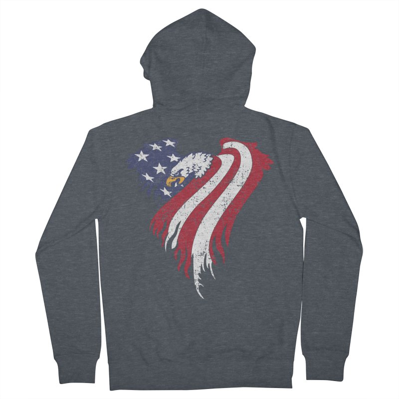 American Eagle Flag Women's Zip-Up Hoody by Hassified