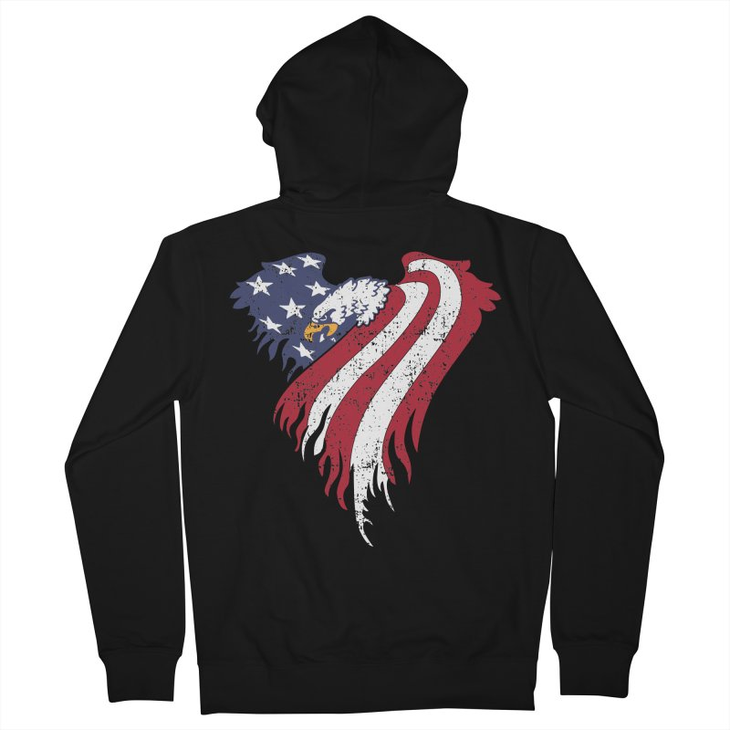 American Eagle Flag Women's French Terry Zip-Up Hoody by Hassified
