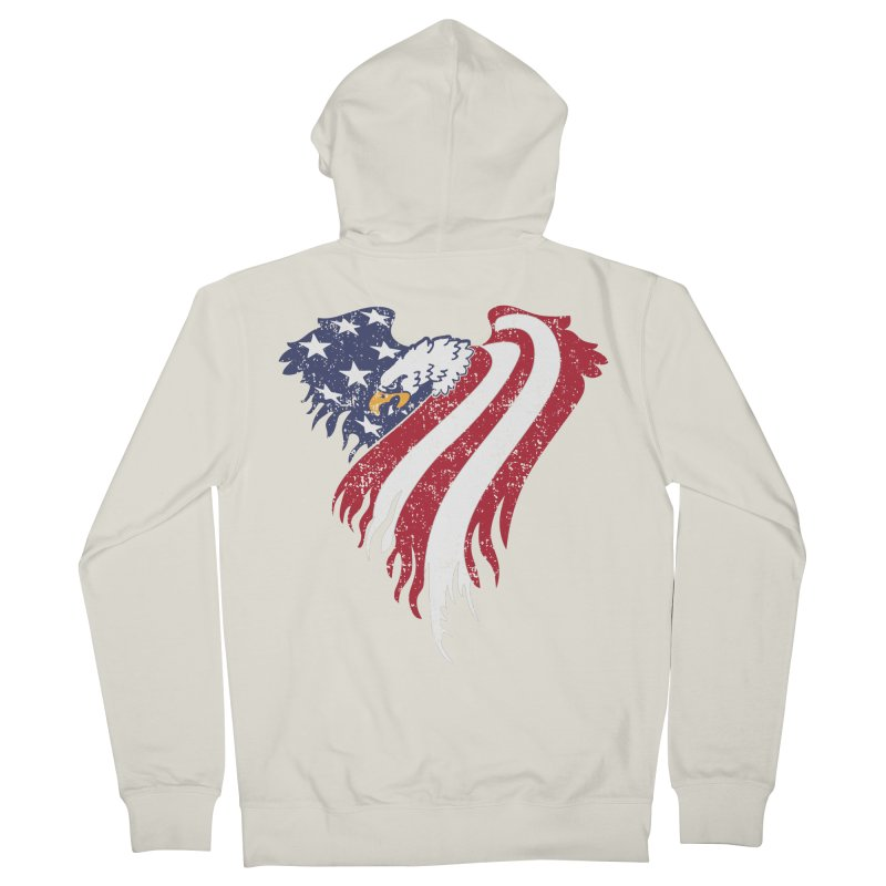 American Eagle Flag Men's Zip-Up Hoody by Hassified