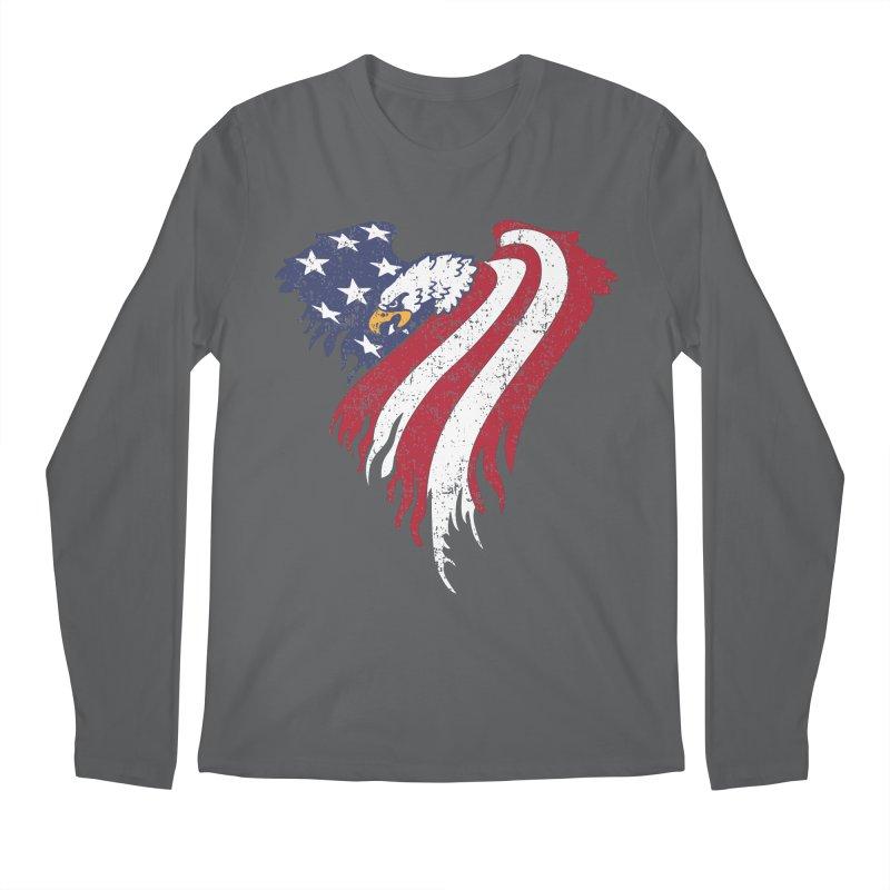 American Eagle Flag Men's Regular Longsleeve T-Shirt by Hassified