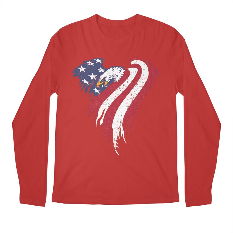 American Eagle Flag Men's Regular Longsleeve T-Shirt by Hassified