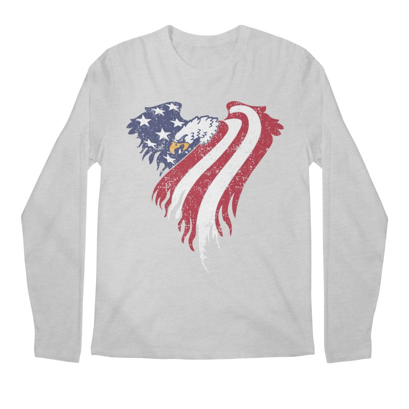 American Eagle Flag Men's Longsleeve T-Shirt by Hassified