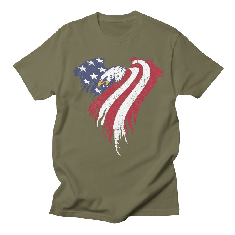 American Eagle Flag Men's T-shirt by Hassified