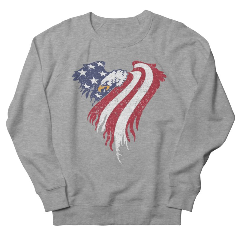 American Eagle Flag Women's French Terry Sweatshirt by Hassified