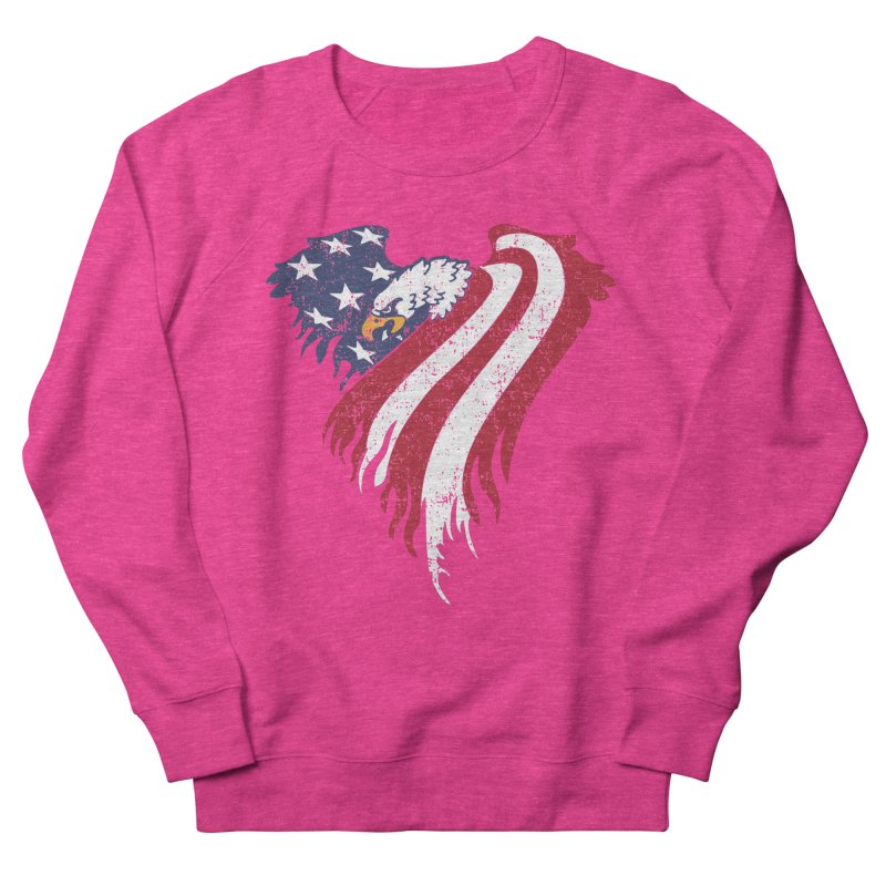 American Eagle Flag Women's Sweatshirt by Hassified