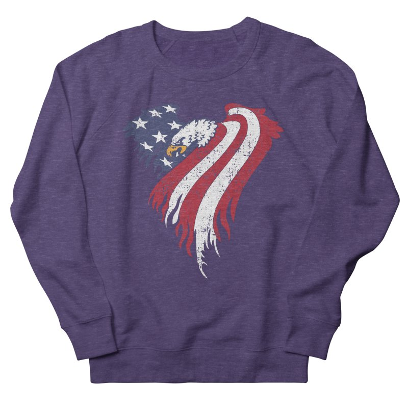 American Eagle Flag Men's French Terry Sweatshirt by Hassified