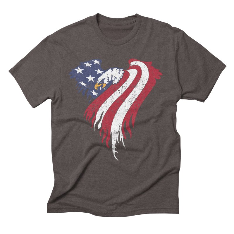 American Eagle Flag Men's Triblend T-Shirt by Hassified