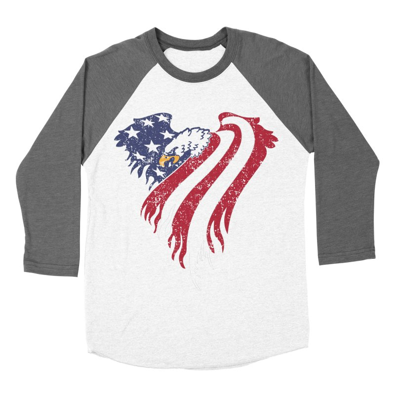 American Eagle Flag Women's Baseball Triblend T-Shirt by Hassified