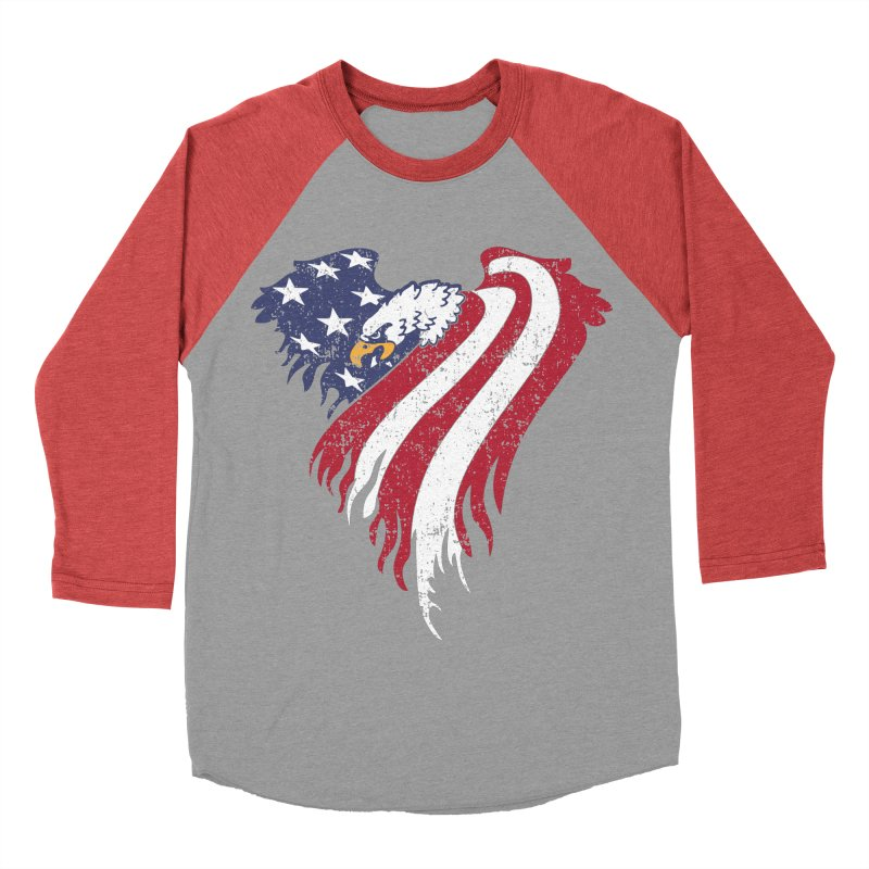 American Eagle Flag Women's Baseball Triblend Longsleeve T-Shirt by Hassified