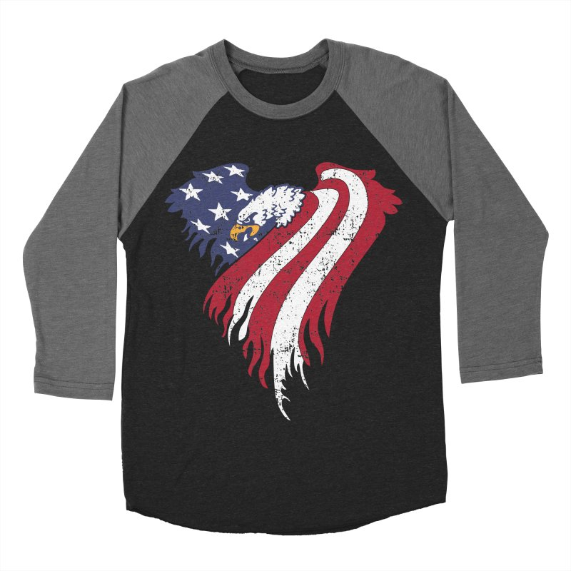 American Eagle Flag Women's Baseball Triblend Longsleeve T-Shirt by Hassified
