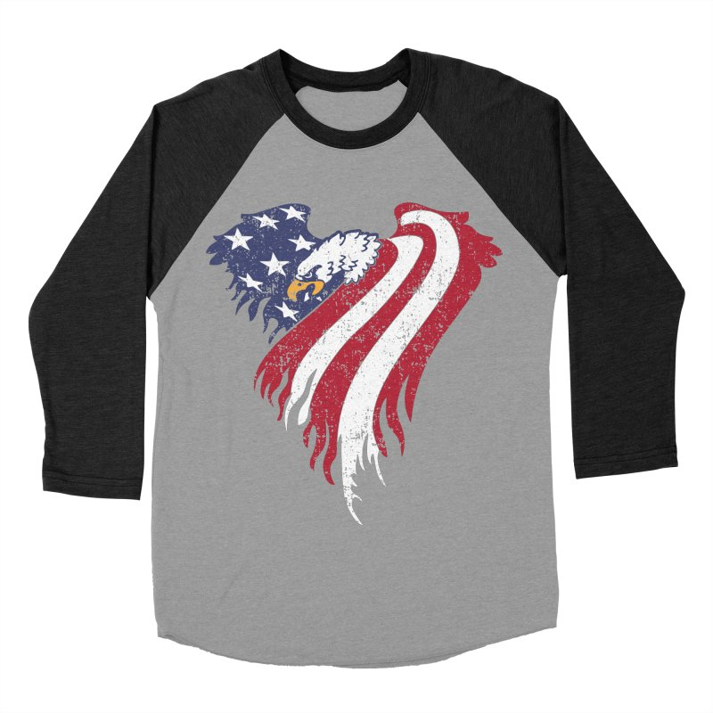 American Eagle Flag Men's Baseball Triblend Longsleeve T-Shirt by Hassified
