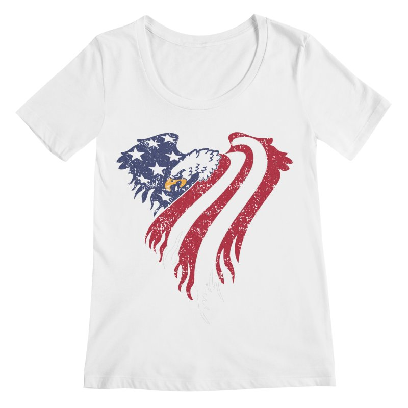 American Eagle Flag Women's Regular Scoop Neck by Hassified