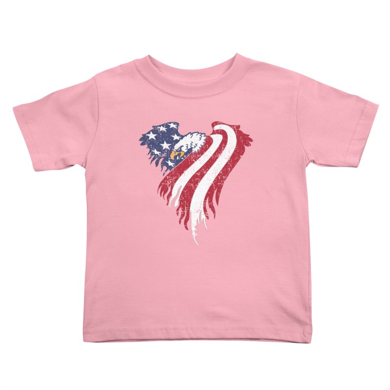 American Eagle Flag Kids Toddler T-Shirt by Hassified