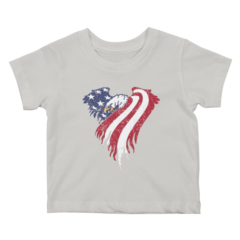 American Eagle Flag Kids Baby T-Shirt by Hassified