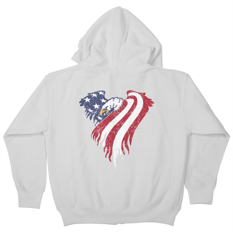American Eagle Flag Kids Zip-Up Hoody by Hassified
