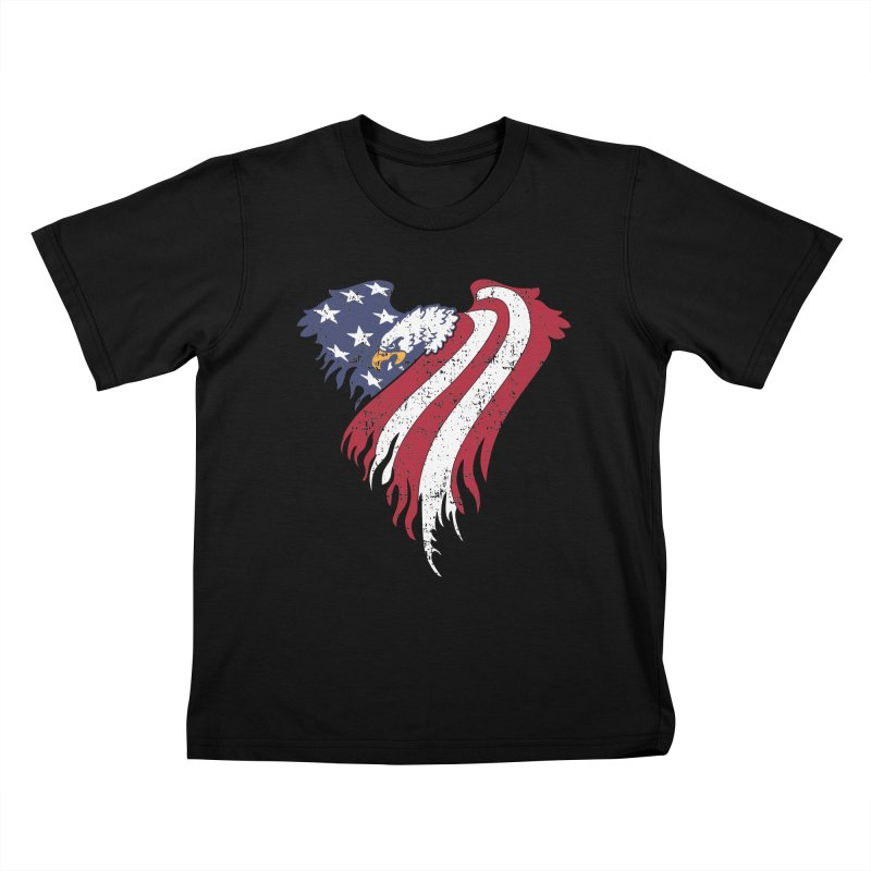 American Eagle Flag Kids T-Shirt by Hassified