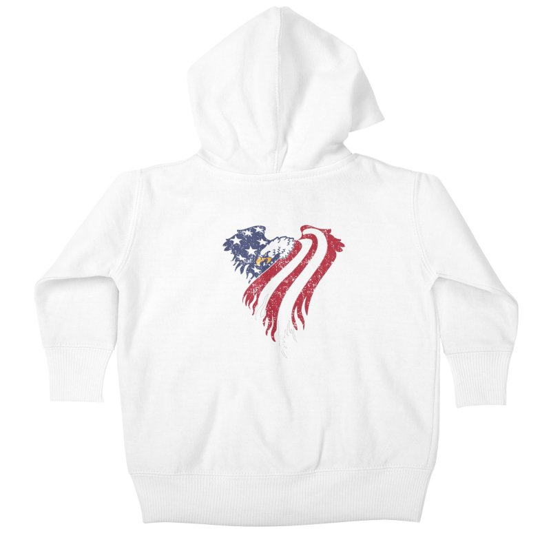 American Eagle Flag Kids Baby Zip-Up Hoody by Hassified