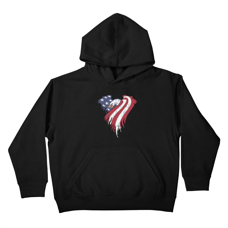 American Eagle Flag Kids Pullover Hoody by Hassified