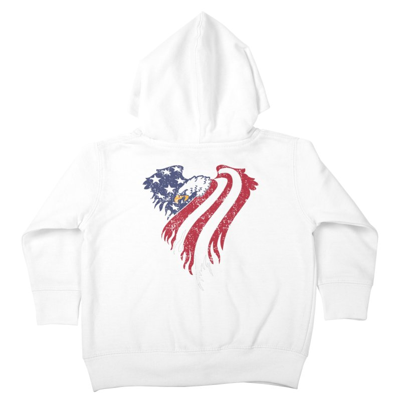 American Eagle Flag Kids Toddler Zip-Up Hoody by Hassified