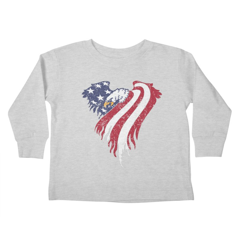 American Eagle Flag Kids Toddler Longsleeve T-Shirt by Hassified