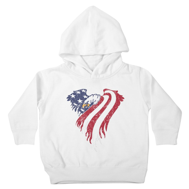 American Eagle Flag Kids Toddler Pullover Hoody by Hassified