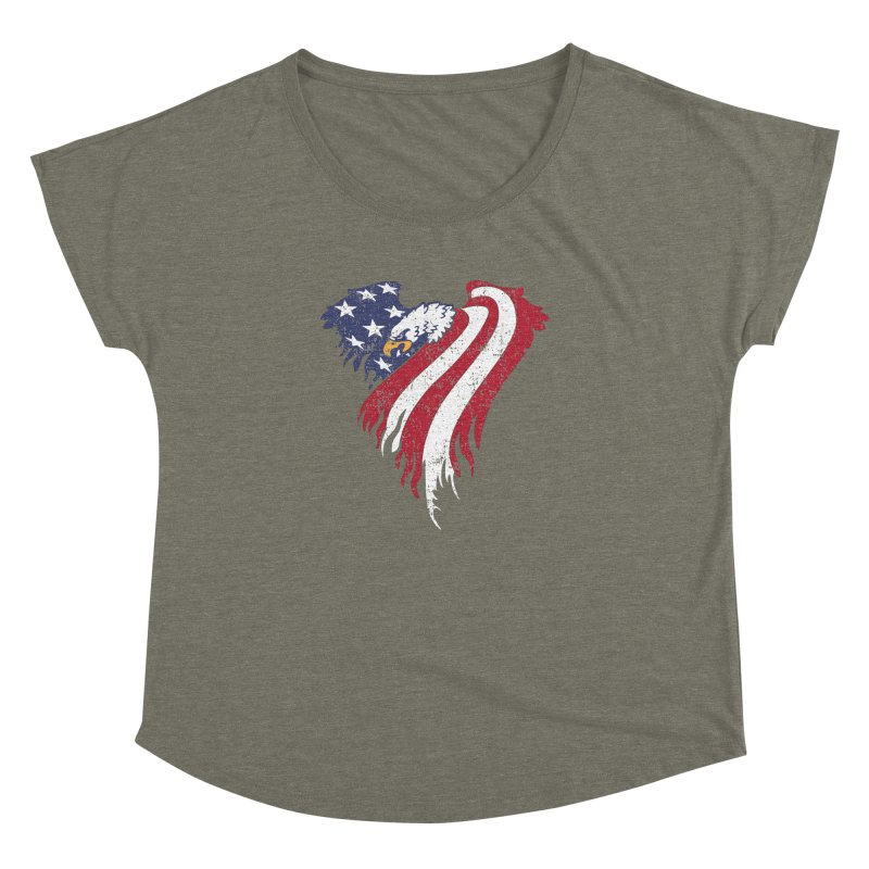 American Eagle Flag Women's Dolman Scoop Neck by Hassified