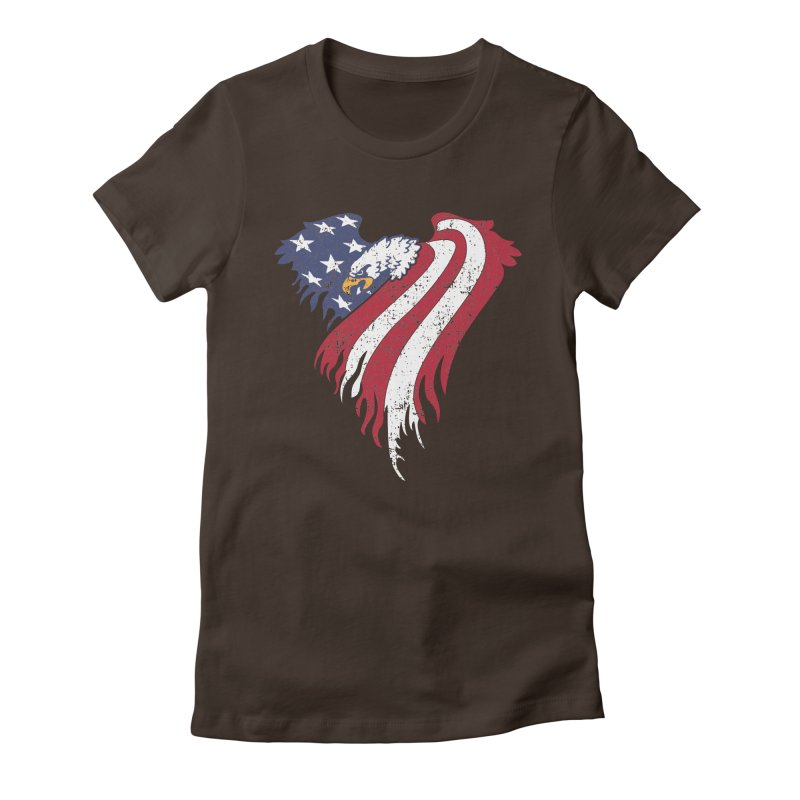 American Eagle Flag Women's Fitted T-Shirt by Hassified