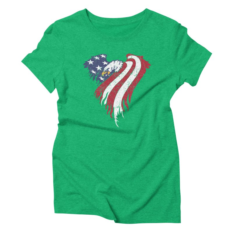 American Eagle Flag Women's Triblend T-shirt by Hassified