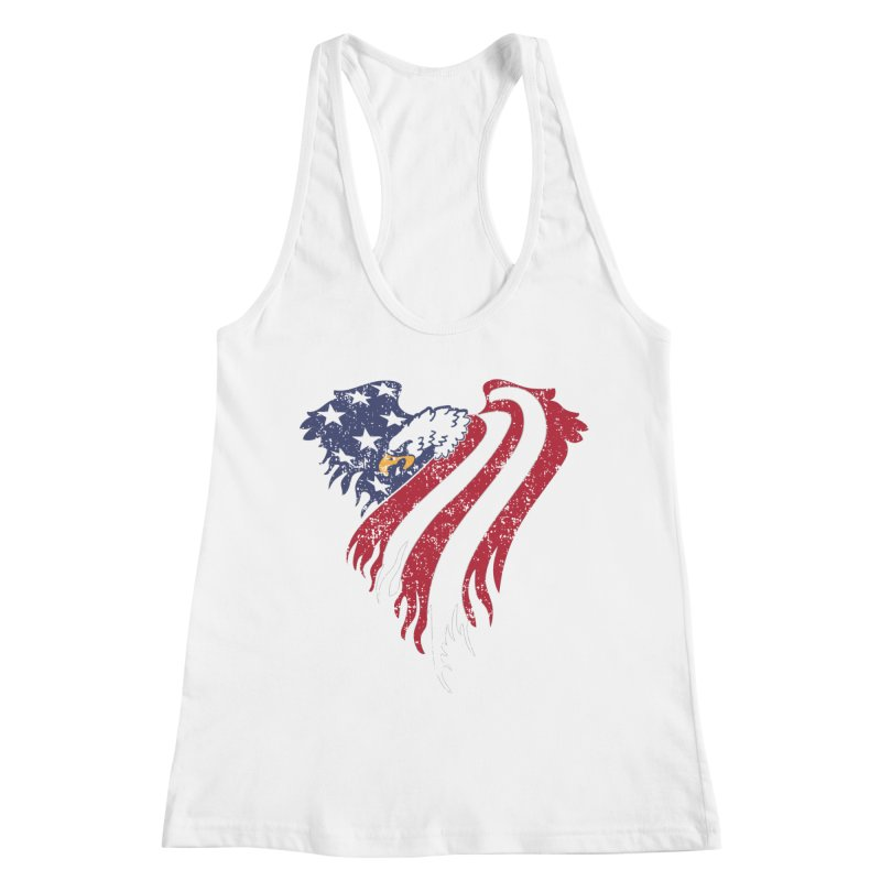 American Eagle Flag Women's Racerback Tank by Hassified