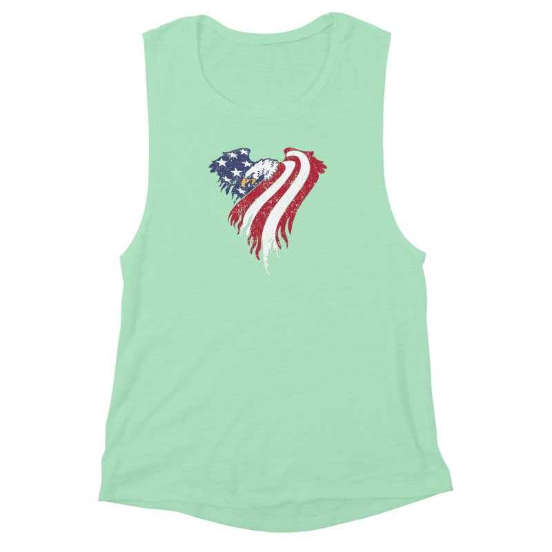 American Eagle Flag Women's Muscle Tank by Hassified