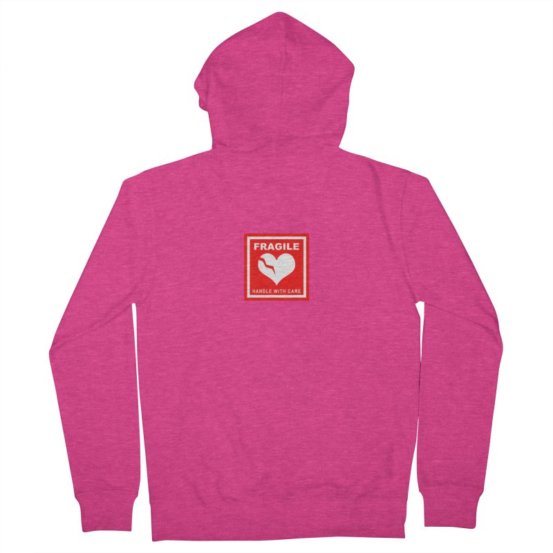 Fragile Handle With Care Women's French Terry Zip-Up Hoody by Hassified