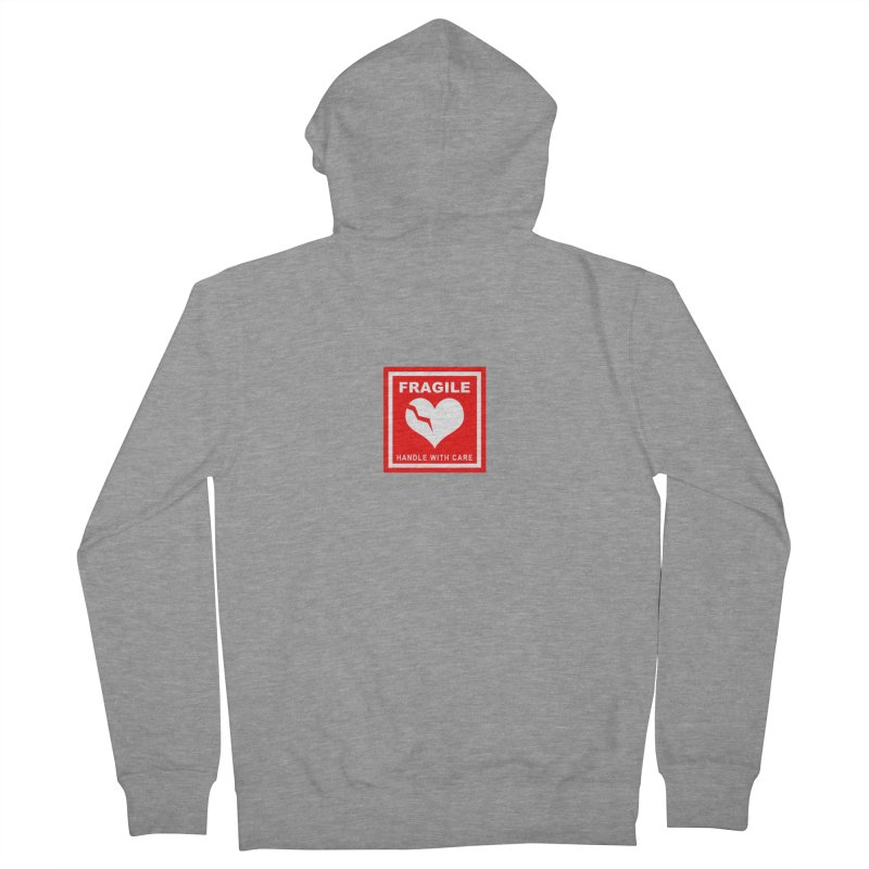 Fragile Handle With Care Men's Zip-Up Hoody by Hassified