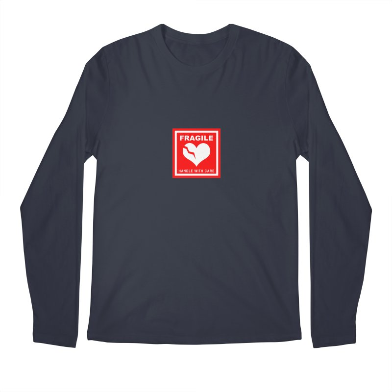 Fragile Handle With Care Men's Regular Longsleeve T-Shirt by Hassified