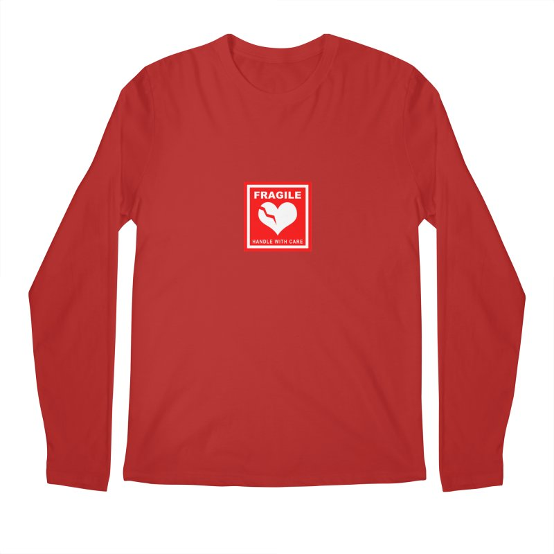 Fragile Handle With Care Men's Longsleeve T-Shirt by Hassified