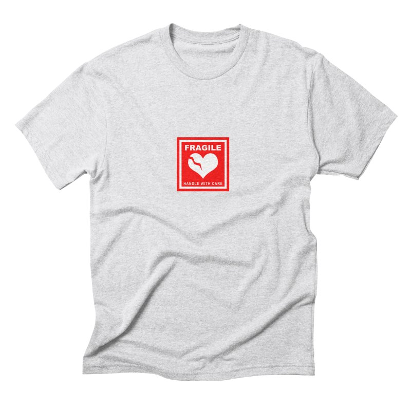 Fragile Handle With Care Men's Triblend T-Shirt by Hassified