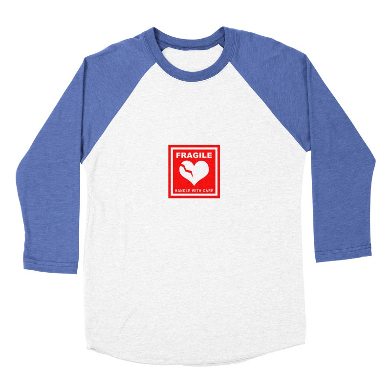 Fragile Handle With Care Men's Baseball Triblend Longsleeve T-Shirt by Hassified